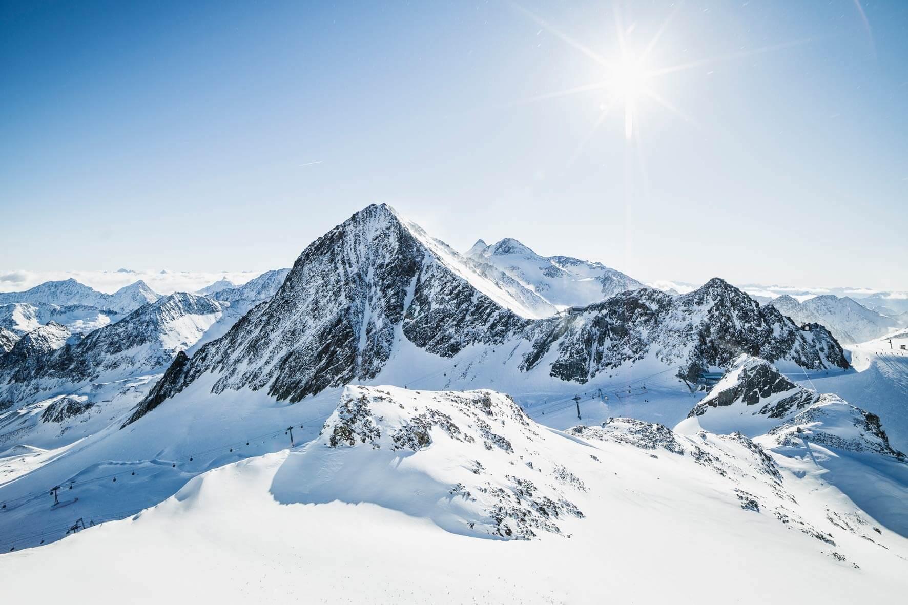 der Stubaier Gletscher - Österreichs größtes Gletschergebiet